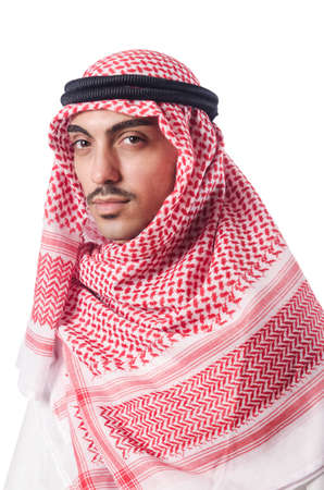 Diversity concept with arab on white Stock Photo - 16178618