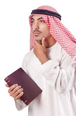 Arab man praying on white Stock Photo - 16178518