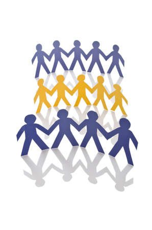 Teamwork concept with paper cut people Stock Photo - 16162170