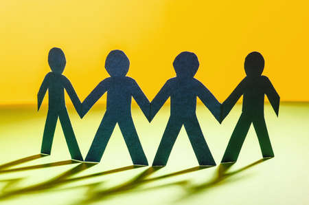 Paper people in teamworking concept Stock Photo - 16276711