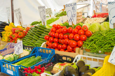 Fruits and vegetables at the market stall Stock Photo - 16283929
