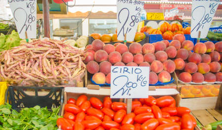 Fruits and vegetables at the market stall Stock Photo - 16283888