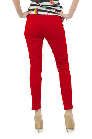 Model with trousers isolated on white Stock Photo - 16282985