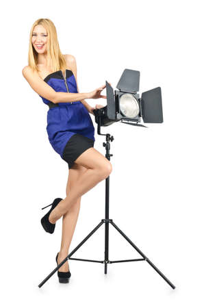 Attrative woman in photo studio Stock Photo - 16281369