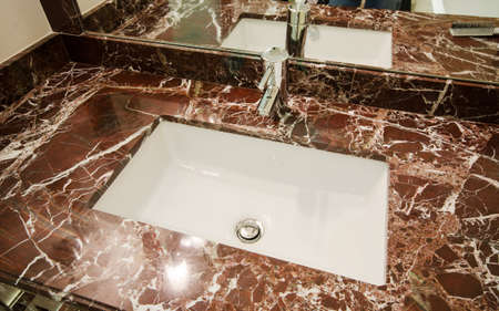 Sink in marble stand