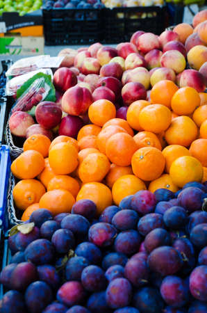 Fruits at the market stall Stock Photo - 16283925