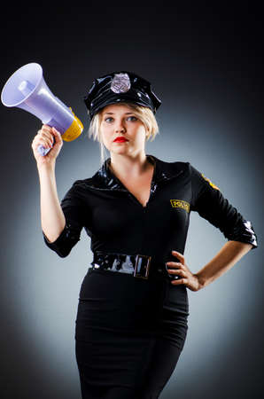 Attractive police office in dark room Stock Photo - 16278595
