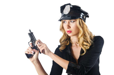 Young attractive woman police Stock Photo - 16275790