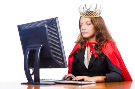 Office queen isolated on the white Stock Photo - 16276773