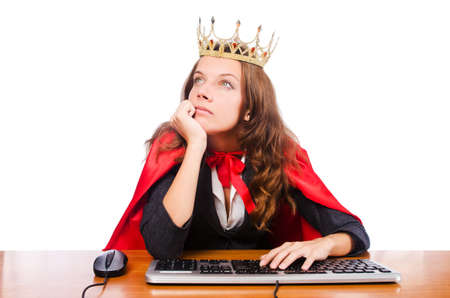 Office queen isolated on the white Stock Photo - 16275930