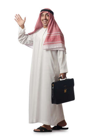 Diversity concept with arab on white Stock Photo - 16280230