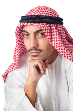 Young arab isolated on the white Stock Photo - 16277252