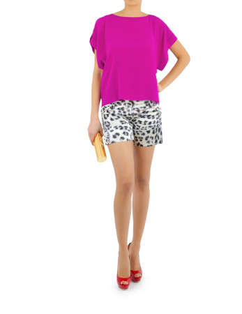 Fashion concept with model on white Stock Photo - 16274959