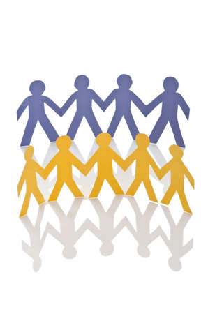 Teamwork concept with paper cut people Stock Photo - 16283011