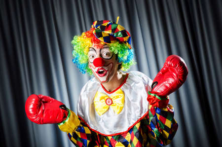 Funny clown in the studio shooting Stock Photo - 16422853