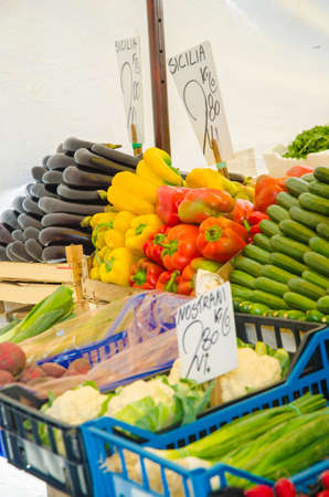 Fruits and vegetables at the market stall Stock Photo - 16388481