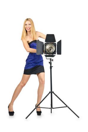 Attrative woman in photo studio Stock Photo - 16491570