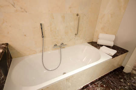 shower stall: Interior of bathroom with shower