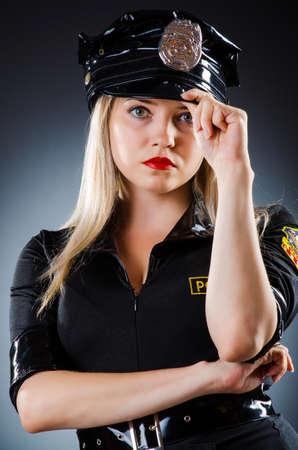 Attractive police office in dark room Stock Photo - 16483099