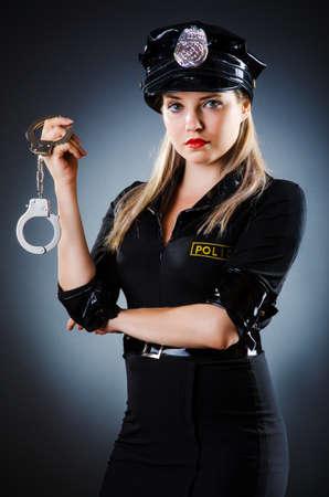 Attractive police office in dark room Stock Photo - 16483082