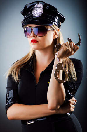 Attractive police office in dark room Stock Photo - 16483094
