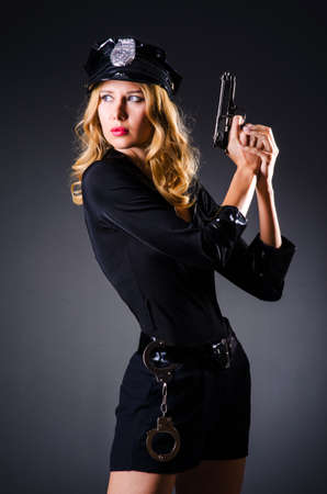 Young attractive woman police Stock Photo - 16483091