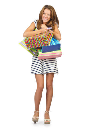 Happy girl after great shopping Stock Photo - 16475743