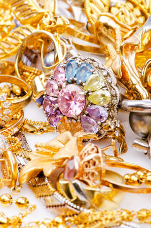 Large collection of gold jewellery Stock Photo - 16415894