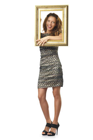 Picture frame and attractive woman Stock Photo - 16475855