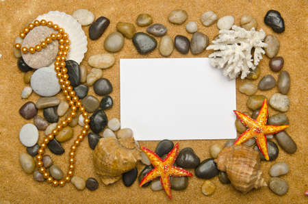 Blank message on the sand Stock Photo - 16416071
