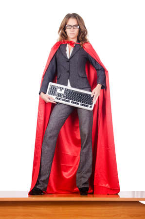 Businesswoman in superwoman concept Stock Photo - 16483000