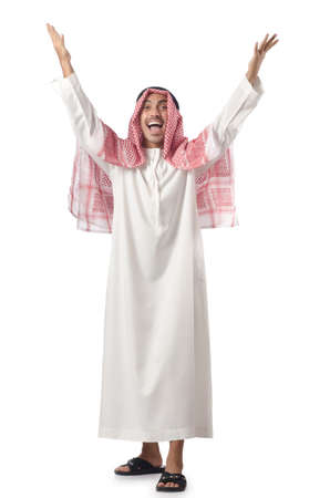 Arab man isolated on the white Stock Photo - 16475720