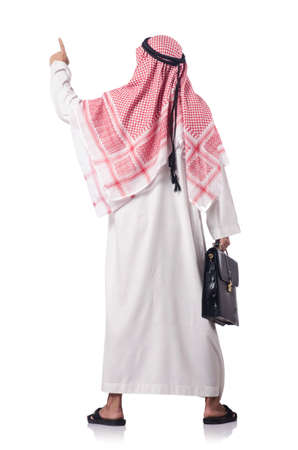 Diversity concept with arab on white Stock Photo - 16415393