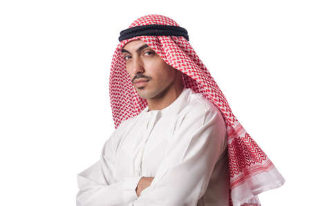 Diversity concept with arab on white Stock Photo - 16475886