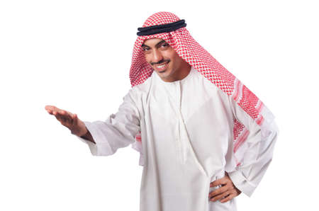 Young arab isolated on the white Stock Photo - 16475844