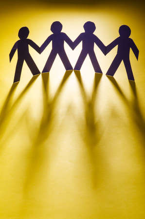 Paper people in teamworking concept Stock Photo - 16415770