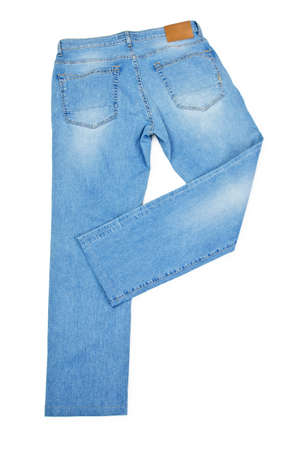 Pair of jeans isolated on the white Stock Photo - 16416069