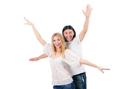 Pair of man and woman in love Stock Photo - 16933976