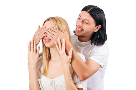 Pair of man and woman in love Stock Photo - 16934152