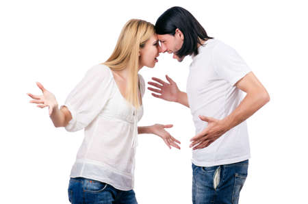 Pair of man and woman in love Stock Photo - 16934147