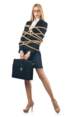 Tied woman in business concept Stock Photo - 16933970