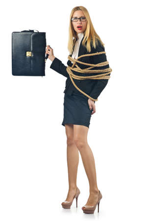Tied woman in business concept Stock Photo - 16934112