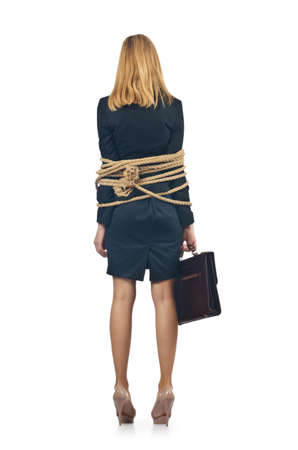 Tied woman in business concept Stock Photo - 16716027