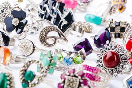 Selection of many precious rings Stock Photo - 16716302