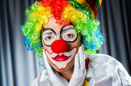 Funny clown in studio shooting Stock Photo - 16934134