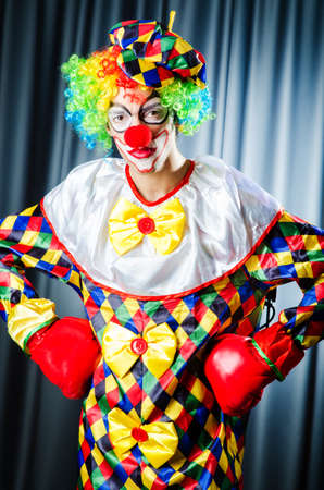 Funny clown in the studio shooting Stock Photo - 16934316