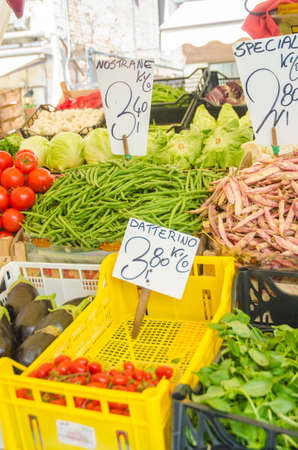 Fruits and vegetables at the market stall Stock Photo - 16716264