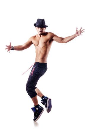 ballet hombres: Bailar�n Desnudos aislados en el blanco