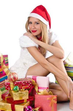 Happy woman after christmas shopping Stock Photo - 16934237