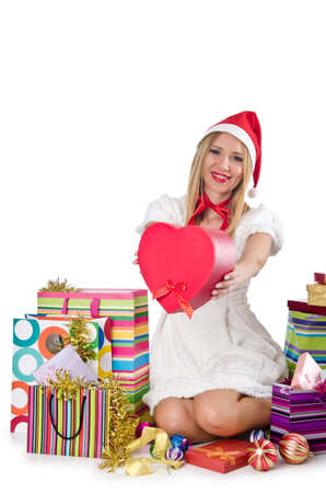 Happy woman after christmas shopping Stock Photo - 16754647